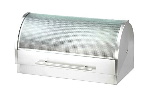 Simple Eco Design Stainless Steel Bread Box With Glass Cover and Handle Keep Your Bread Fresh and - Diego San Macys Store Home