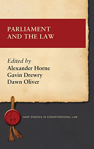 Parliament and the Law (Hart Studies in Constitutional Law)