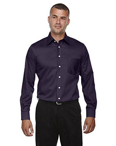 Devon & Jones DG530 Mens Crown Collection Solid Stretch Twill Shirt - Deep Purple DG530 L - Devon And Jones Twill Shirt