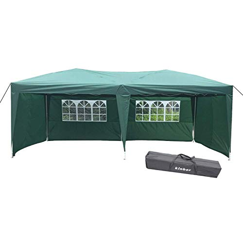 10x20 Ez Canopy Wedding Home Party Tent Outdoor Gazebo with 4 Removable Sidewalls and Windows