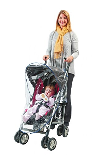 Comfy Baby! Universal Clear Waterproof Rain Cover/Wind Shield for Regular Size Strollers (Graco Jogger Weather Shield)