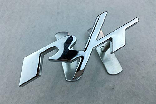 - NEW JDM RACING GRILL BADGE 3D Metal Front HoOD Grille Emblem Fit RT Silver