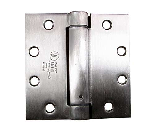 (Hinge Outlet Stainless Steel Spring Hinge - 4 Inch Square - Highly Rust Resistant - 2 Pack)
