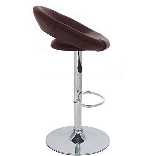 Rho Leather Contemporary Adjustable Barstool – Brown