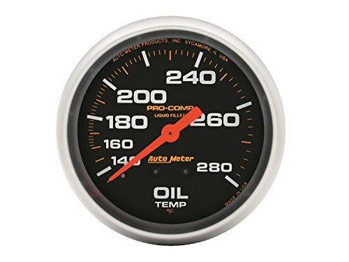 (Auto Meter 5443 Pro-Comp Liquid-Filled Mechanical Oil Temperature Gauge)