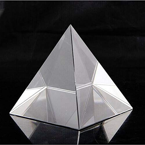 Crystal Pyramid Paperweight Mascot - ZAMTAC Quartz Crystal Glass Pyramid Paperweight Crafts Natural Stones Minerals Fengshui Figurine Home Wedding Office Decor Ornaments - (Color: Transparent, Size: 4cm)