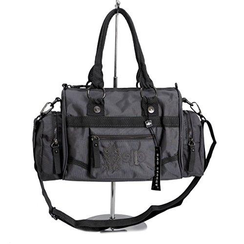 Jennifer Jones–Deportivo Mujer Moderna–Bolso para bolos–Presentado por zmoka® en varios. Colores, negro (negro) - 0 gris oscuro