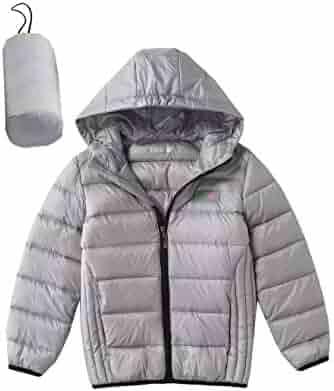 a918695aa8ec5 Hiheart Boys Girls Ultralight Hooded Puffer Jacket Winter Down Coat