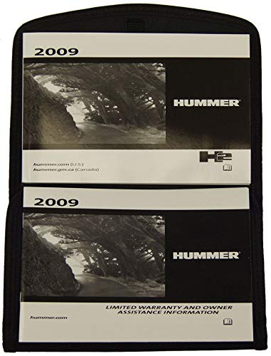 - 2009 Hummer H2 Owners Manual Glovebox Pouch Black For US Canada Models 20788573