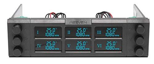 Reeven RFC-02 Six Eyes II Fan Controller - Black