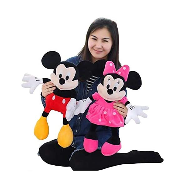 BIG SHOPEE Combo Pack of Mickey Minnie Mouse Soft Toy, 40 cm