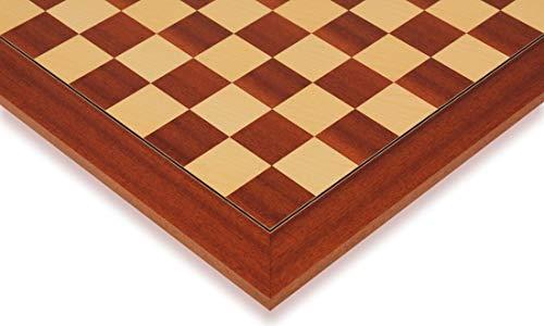 Mahogany & Maple Deluxe Chess Board - 1.5