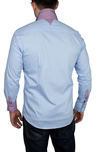 Larga Bodas Modelo Estándar Fit Hombre Slim hellblau Libre Manga Para Trajes Camisa 2 Tiempo q6t106w