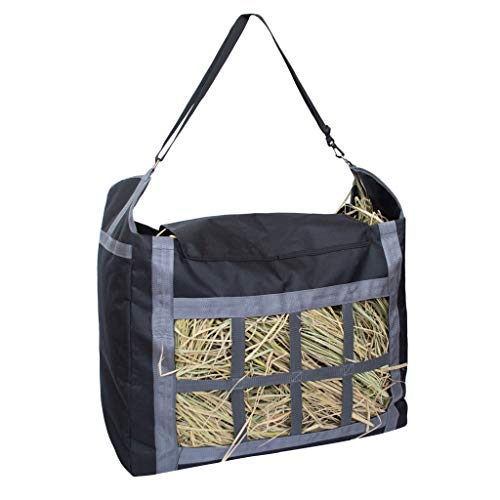 - Bag Feeder Halters - Slow Feed Hay Net Bag with Adjustable Carry Strap for Horses - by Viet-GT - 1 PCs