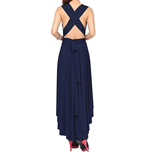 de Cuello Transformer Piso Elegante Cóctel Dresses Maxi Larga Vestidos Honor V Infinity Fiesta Vestido de Dama Manera Mujer Noche Boho Multi Azul Verano de Vendimia Mangas Longitud Falda lo Sin Marino Hi qw0x5gnRSO
