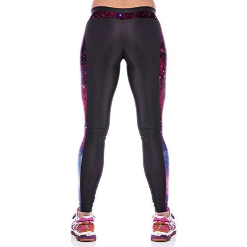 Pinkyee Leggings Deporte para mujer Side Galaxy