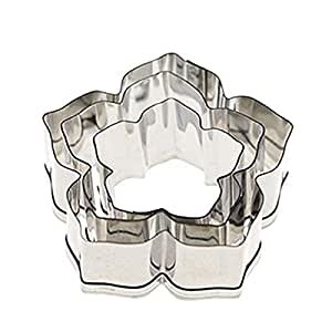 3pcs Petunia Flower Stainless Steel Cookie Cutter Cake Sugar Paste Baking Mould