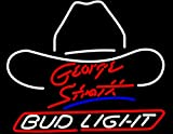 "Super Bright Revolutionary LED Neon Sign!! Bud Light Large George Strait Beer Neon Sign 19""x15"": The Next Generation LED Neon Sign, the Best Offer!!"