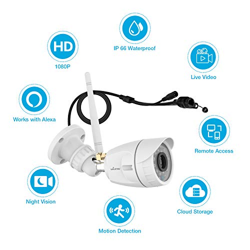 Outdoor Security Camera, Wansview 1080P WiFi Home Surveillance Waterproof Camera with Night Vision, Motion Detection…