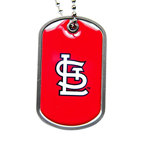 St. Louis Cardinals Dog Tag Domed Necklace Charm Chain - Louis Tag Cardinals Dog