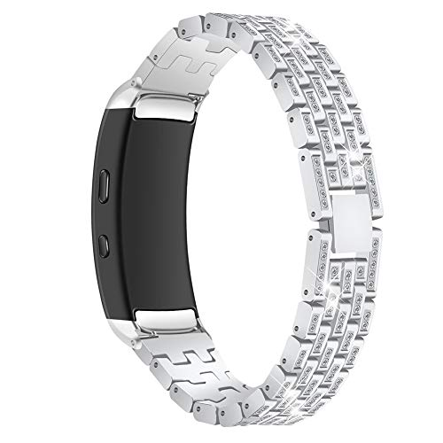 Togethluer Well-designed Watch Band,Replacement Rhinestone Watch Strap Wristband,for Samsung Gear Fit2 SM-R360 Silver