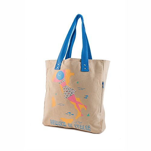 Thats Italia Summer in Italia Shopper Donna, in Canvas, Multicolore