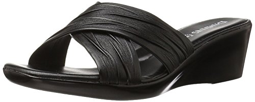 Italian Shoemakers Women's 168m Wedge Sandal, Black, 7 M (Womens Black Italian)