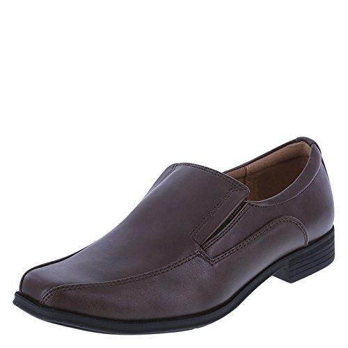SmartFit Boys' Brown Boys' Grant Slip-On Dress Shoe
