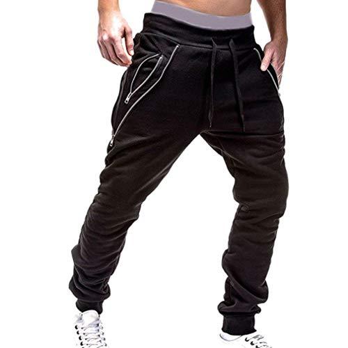 Negro Zip Cordón Slim Bolsillos Long Pantalones Con Basicas Casual Summer Viaje Chinos Fit Mens De Spring px0YZBfF
