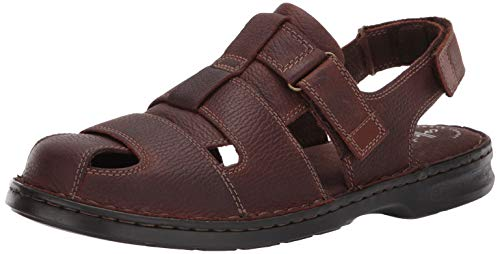 - CLARKS Men's Malone Cove Fisherman Sandal, Dark Brown Tumbled Leather, 100 M US