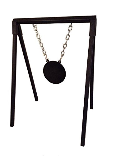 "A-Frame Target Stand Small (30"" legs, made of 1"" tube; 24"" wide cross brace made of 1 1/4"" tube: includes 4 hooks and 2 chains) w/ 12"" AR500 3/8"" Round Two Hole Gong -  The 2nd Target Company, 15630"