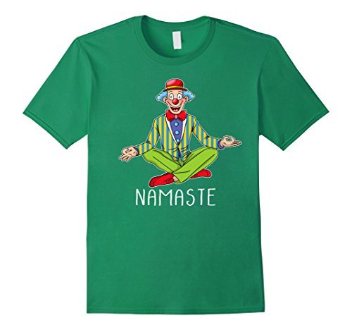 Yoga Trainer Costume (Mens Halloween Zen Yoga Clown T-shirt Clown Meditation Costume XL Kelly Green)