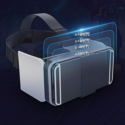 バーチャルリアリティのメガネ3D 折りたたみ式 ヘッドマウント 4.5から6.6インチのiPhoneのAndroidスマートフォンに適し ゲーム映画,Black,Package5