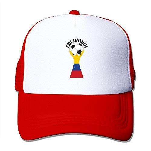 Thethingyouonceowned Adult Colombia Soccer Team Victory Mesh Caps Adjustable Baseball Cap Unisex Trucker Hats Red ()