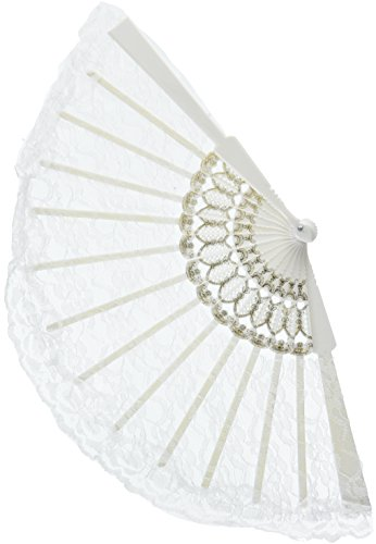 White Lace Fan - ST -