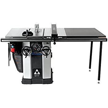 Delta 36 l51x bc50 10 inch left tilt 5 horsepower cabinet saw with delta 36 l336 3 hp unisaw with 36 inch biesemeyer fence system keyboard keysfo Images