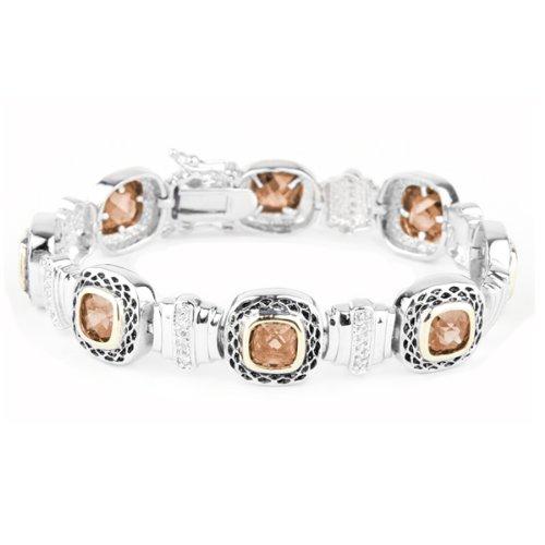 Willow Xpress Melman Champagne CZ Designer Inspired Two-Toned Bracelet