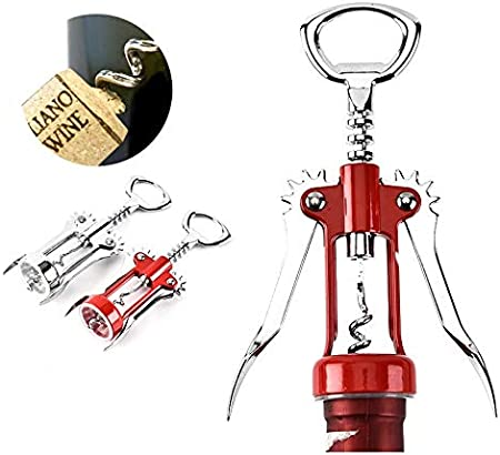 GJHL Sacacorchos Archivo de Botella de Vino de aleación de Zinc originativo Abrelaje Robótico Multifuncional Abrelaje de Vino para Bar Durable (Color : Silver)
