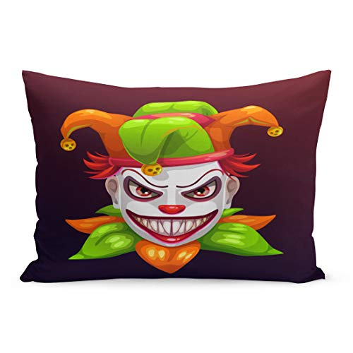 Emvency Throw Pillow Covers Red Bad Crazy Creepy
