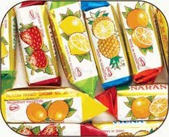 Vienna Fruit Filled Sticks Hard Candy 6LB Bag