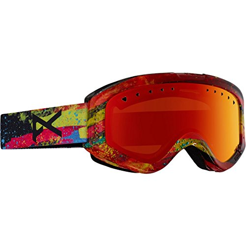 Anon Youth Tracker Goggle, Oz/Red Amber, One - Goggle Tracker Anon