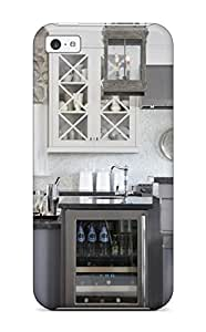 High-quality Durable Protection Case For Iphone 5c(kitchen With Open Dispaly Shelving And Wine Refrigerator) by lolosakes