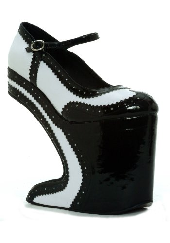 Bettie Page Boutique - Bettie Page Women's BP579 Aubrey Spectator Pump,Black,9 M US