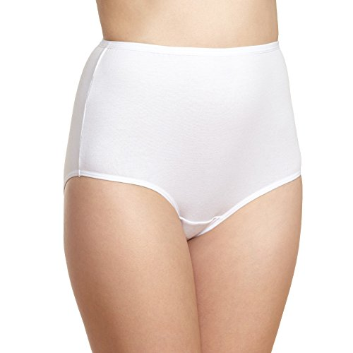 Iris Women's Brief Panties Underwear -3 Pack- Soft Cotton Seamless Comfort Style White 8