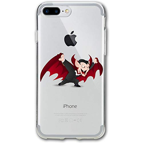Cute Scary Halloween Vampire iPhone 8 Plus Case, iPhone 7 Plus Case, Ultra Thin Lightweight Cover Shell, Anti Scratch Durable, Shock Absorb Bumper Environmental Protection Case Cover -