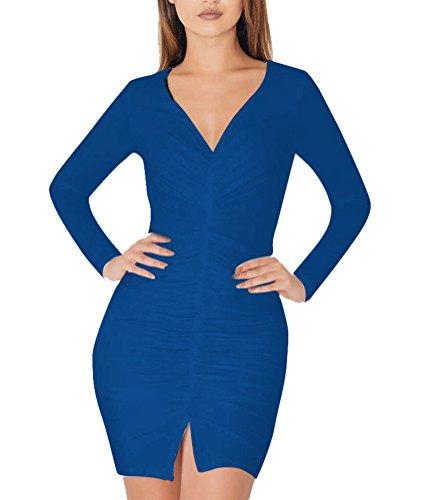 Kleid blau lange armel