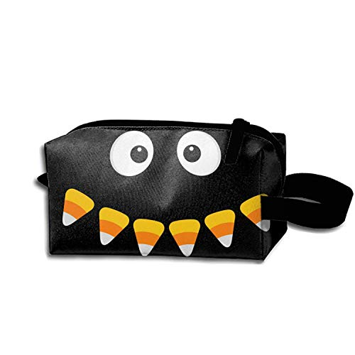 Pencil Pen Zipper Pouch Small Cosmetic Makeup Bags,Happy Halloween Scary Face Style ()