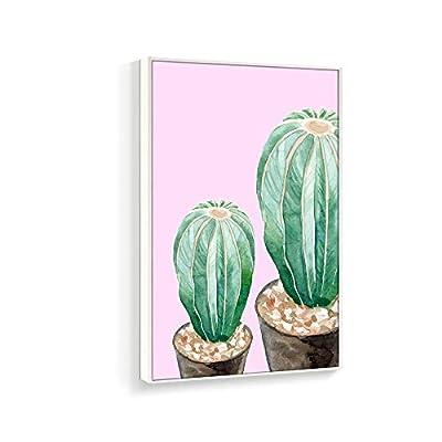 Framed Home Artwork Succulent Plant for Living Room Bedroom