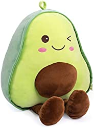Bunbunbunny Avocado Fruit Soft Plush Toy Furry Stuffed Toy Avocado Plush Doll Cute Toy Stuffed Pillow (17.72 i
