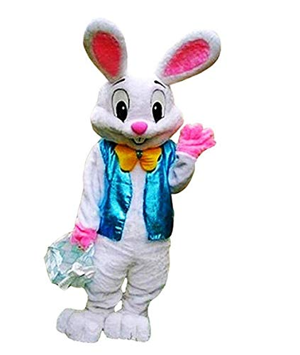 2019 Easter Bunny Mascot Costume Rabbit Hare Fancy Party Dress Character Outfit ()